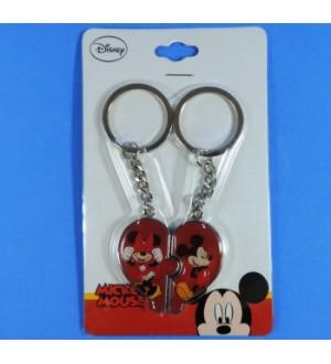 Chaveiro Coração Mickey e Minnie