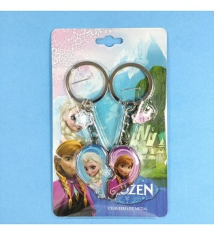 "Chaveiro ""Frozen Anna e Elsa"", 02 peças"